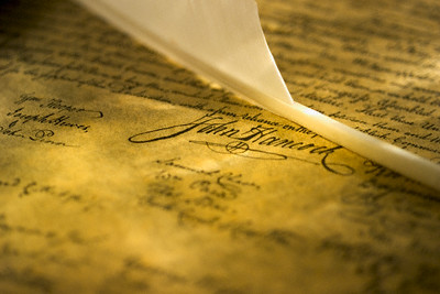 John Hancock Signature on Declaration of Independence